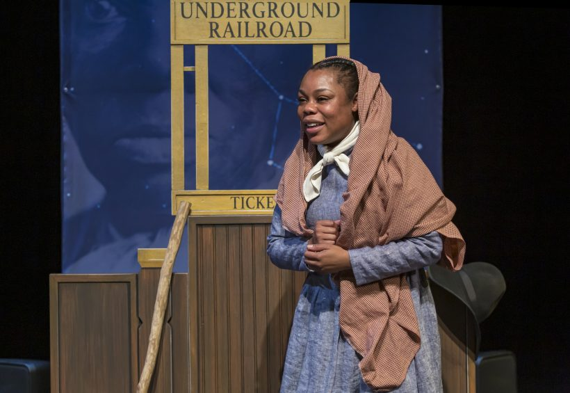 Brandi Sherrill as Harriett Tubman on stage