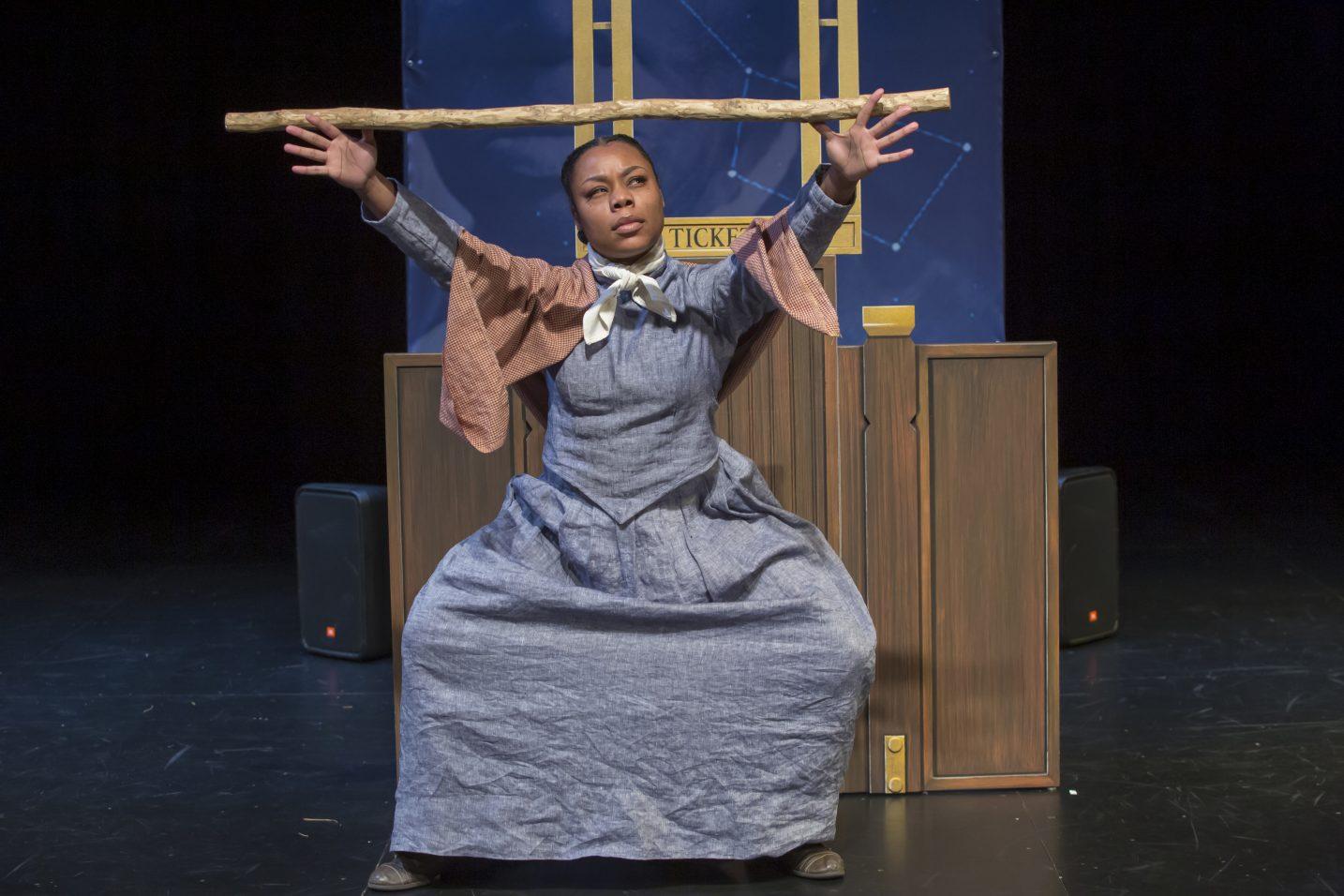 Brandi Sherrill as Harriett Tubman on stage