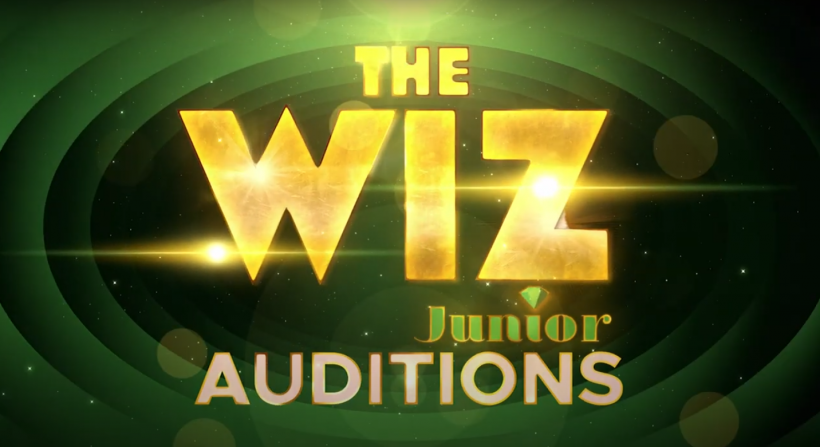 The Wiz Junior Auditions on emerald green background